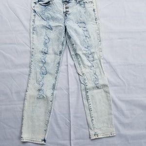 l.e.i. Brand Acid Wash Skinny Jeans.